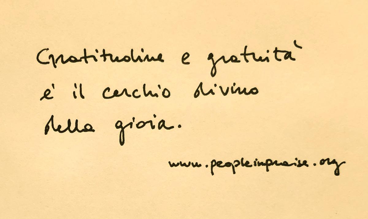 """Gratitudine e gratuià…"""
